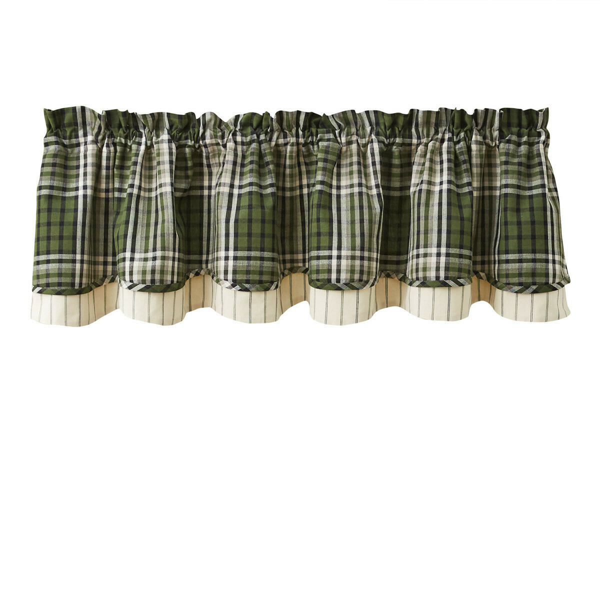 Juniper Plaid Lined Layered Valance
