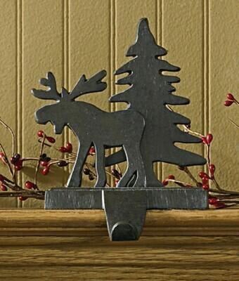 Moose & Tree Stocking Hanger