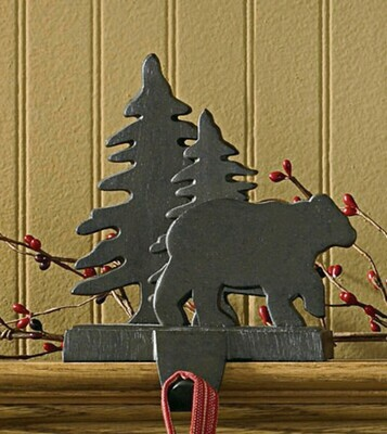 Bear & Tree Stocking Hanger