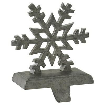 Galvanized Snowflake Stocking Hanger