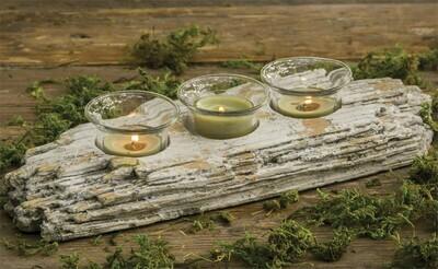 Cement Driftwood Tea Light Holder