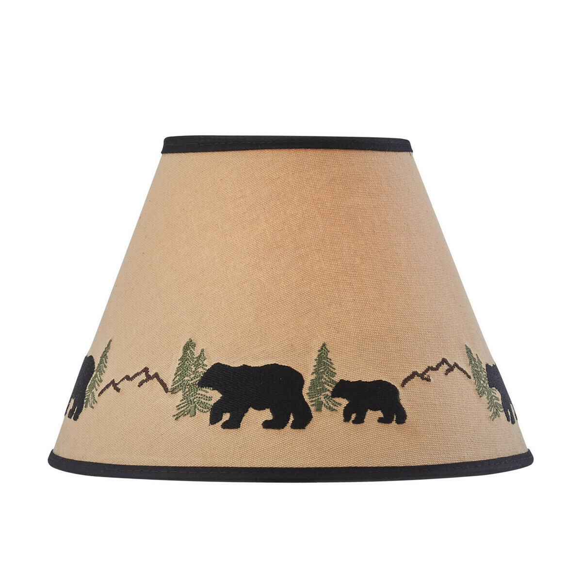 """Black Bear Embroidered 10"""" Shade"""