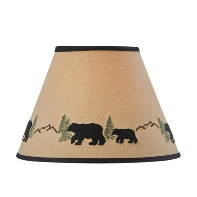 Black Bear Embroidered 12