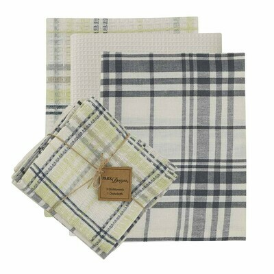 Dew Drop 3 Dishtowel & 1 Dishcloth Set