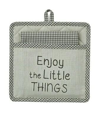 Enjoy Little Things Pocket Potholder Set