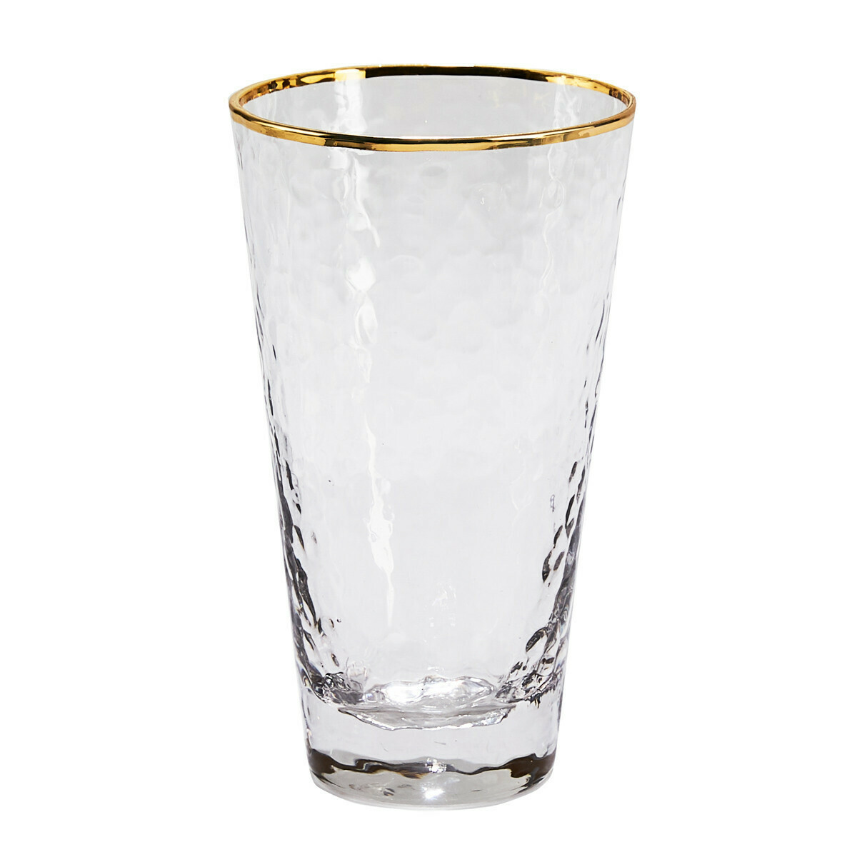 Gold Metallic Rim Highball Glass