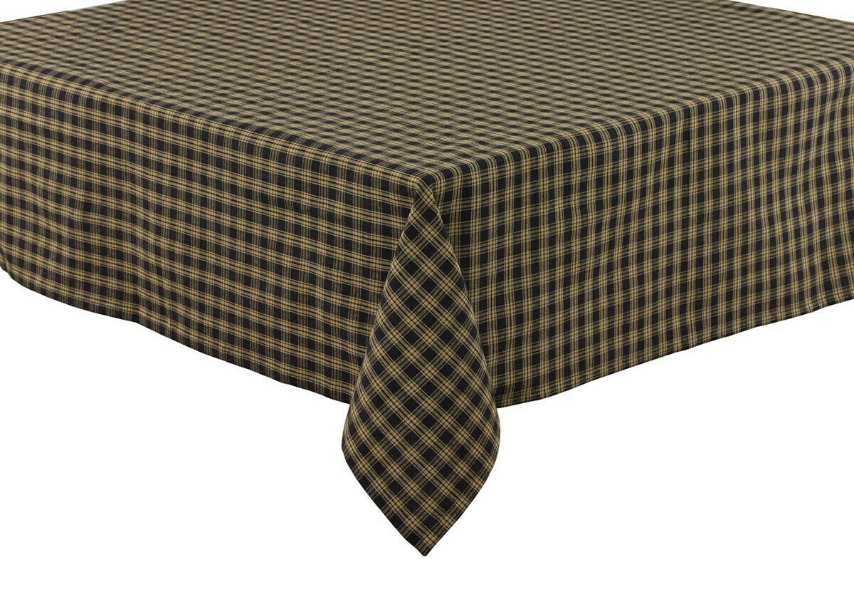 "Black Sturbridge 54"" Tablecloth"