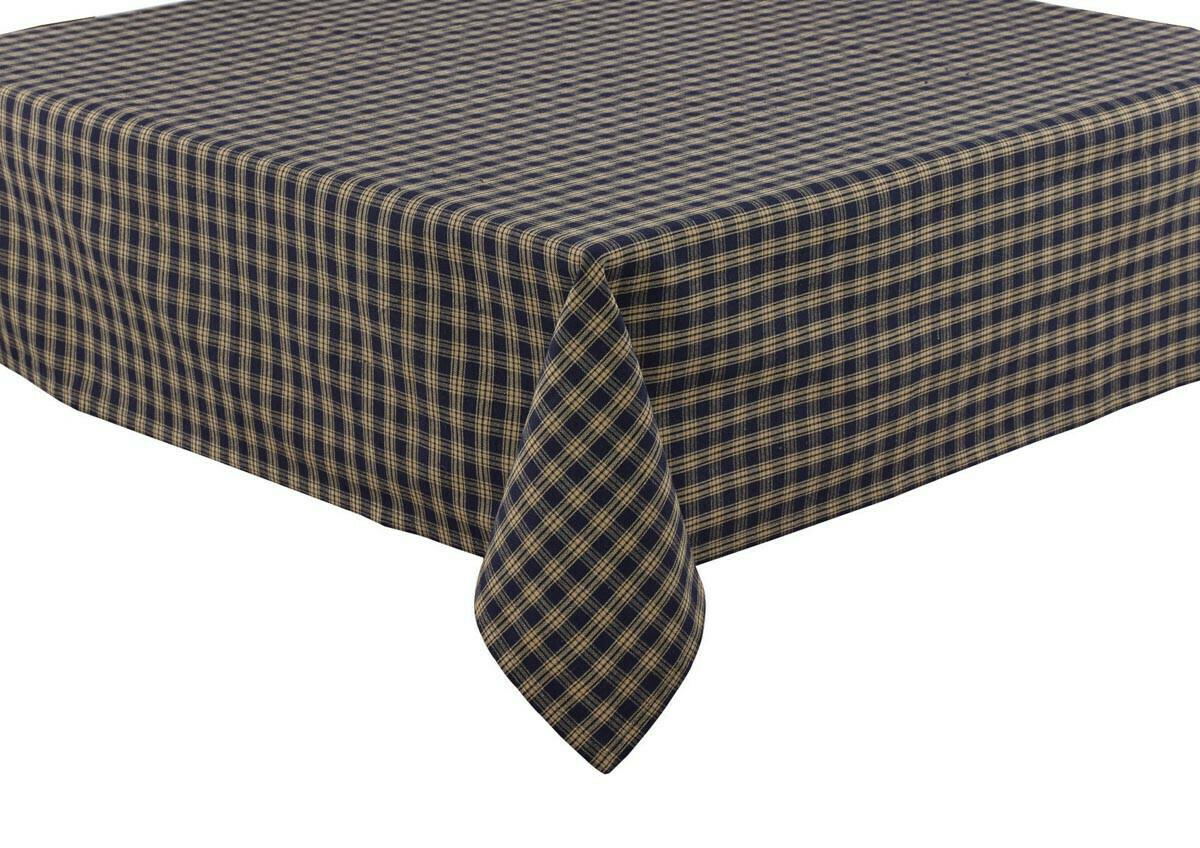 """Navy Sturbridge 84"""" Tablecloth"""