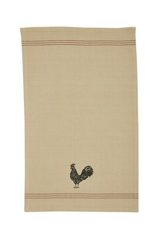 Hen Pecked Decorative Dishtowel