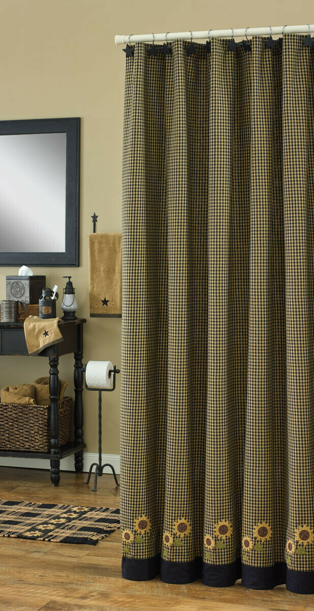 Sunflower Check Shower Curtain