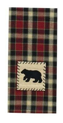 Concord Black Bear Applique Dishtowel