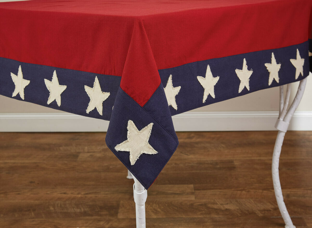 "Star Spangled 54""X54"" Tablecloth"