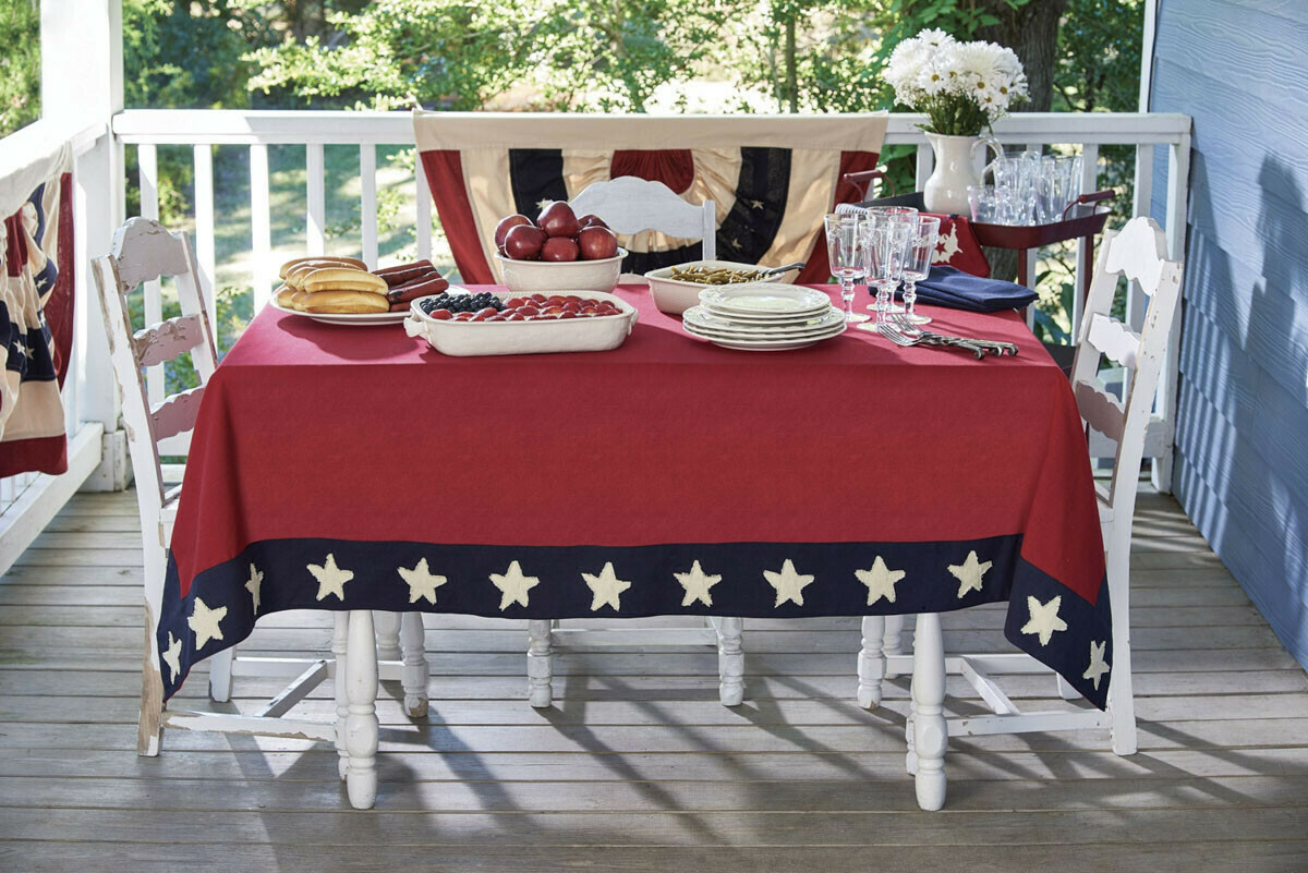 "Star Spangled 60""X84"" Tablecloth"
