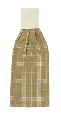 Cream Fieldstone Plaid Hand Towel