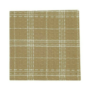 Cream Fieldstone Plaid Dishcloth