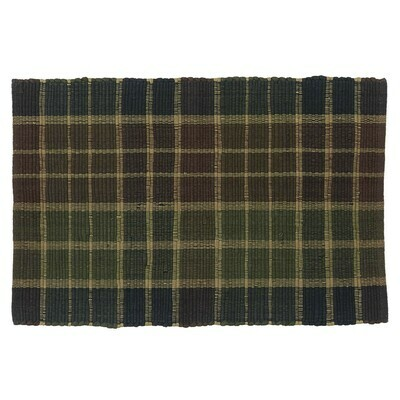 Frontier Plaid 2'X3' Rag Rug