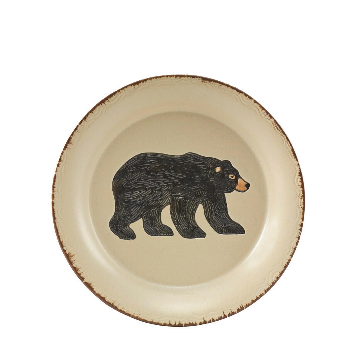 Rustic Retreat Bear Salad Plate