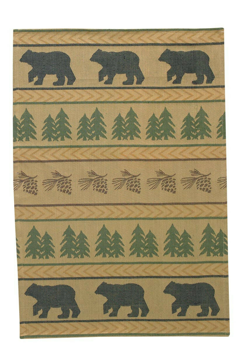 Bear Tracks Jacquard Dishtowel