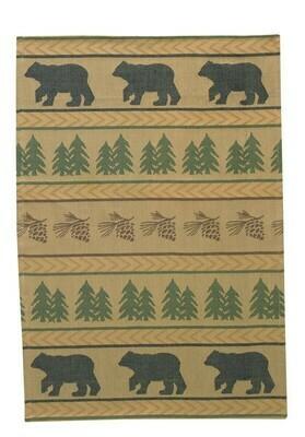 Bear Tracks Jacquard Dishtowel