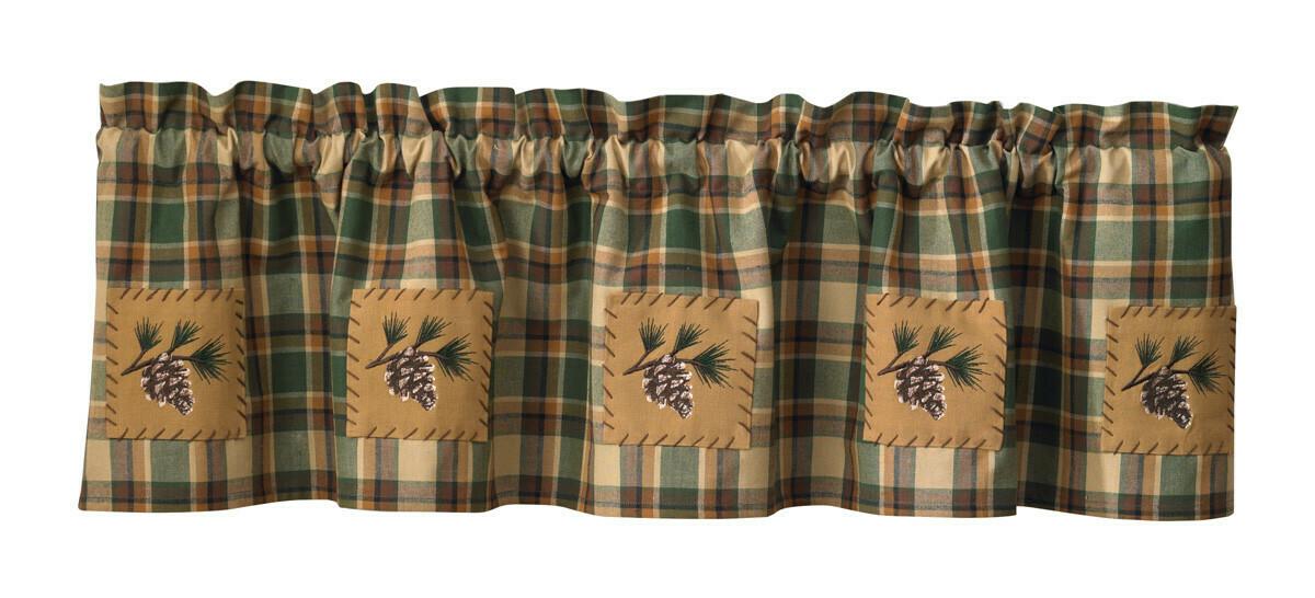 Scotch Pine Lined Patch Valance