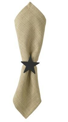 Iron Finish Star Napkin Ring