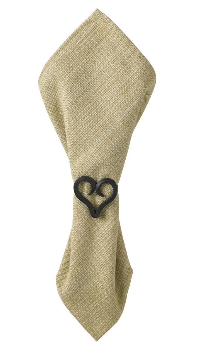Iron Finish Forged Heart Napkin Ring
