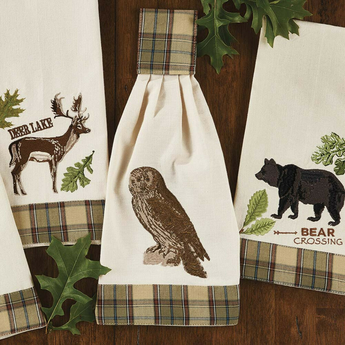 Sequoia Embroidered Owl Hand Towel