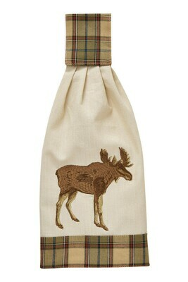 Sequoia Embroidered Moose Hand Towel