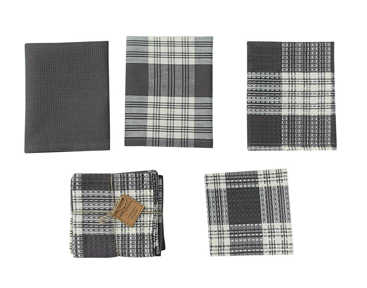 Slate Dylan 3 Dishtowel & 1 Dishcloth Set
