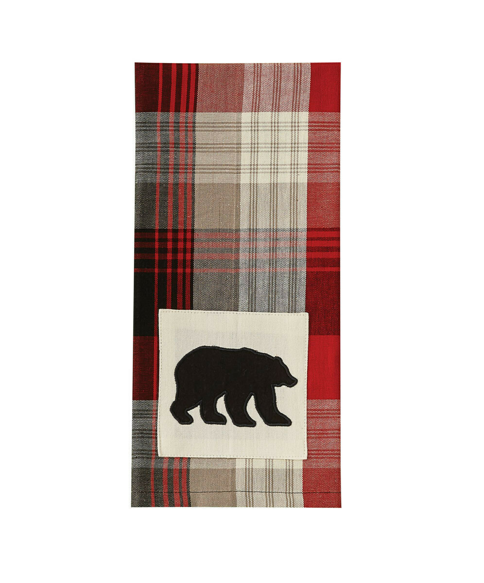 Champlain Bear Applique Dishtowel