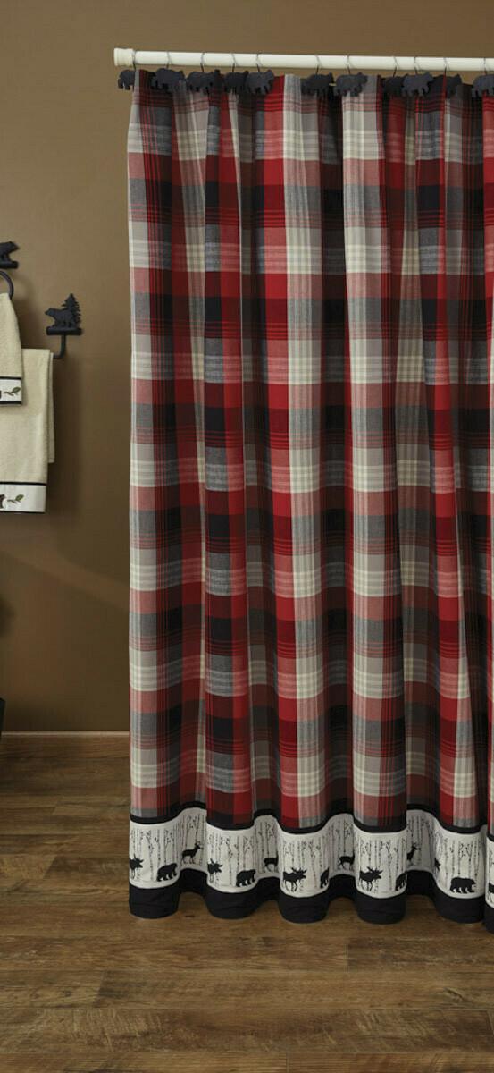 Champlain Border Shower Curtain