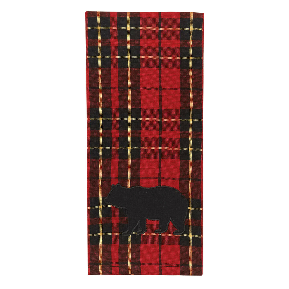 Sportsman Plaid Applique Dishtowel