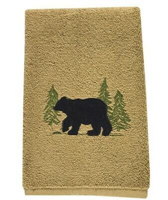 Black Bear Terry Fingertip Towel