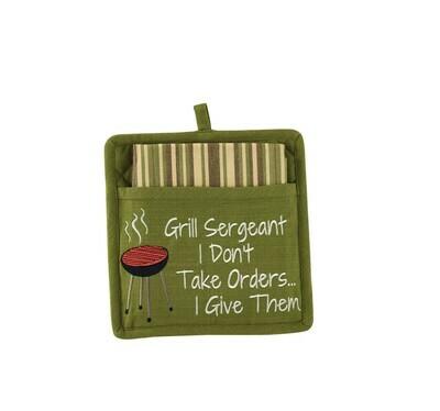 Grill Sergeant Pocket Potholder Set