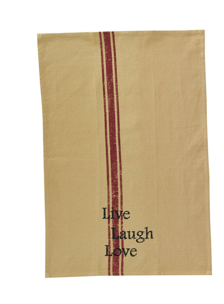 Live Love Laugh Printed Dishtowel