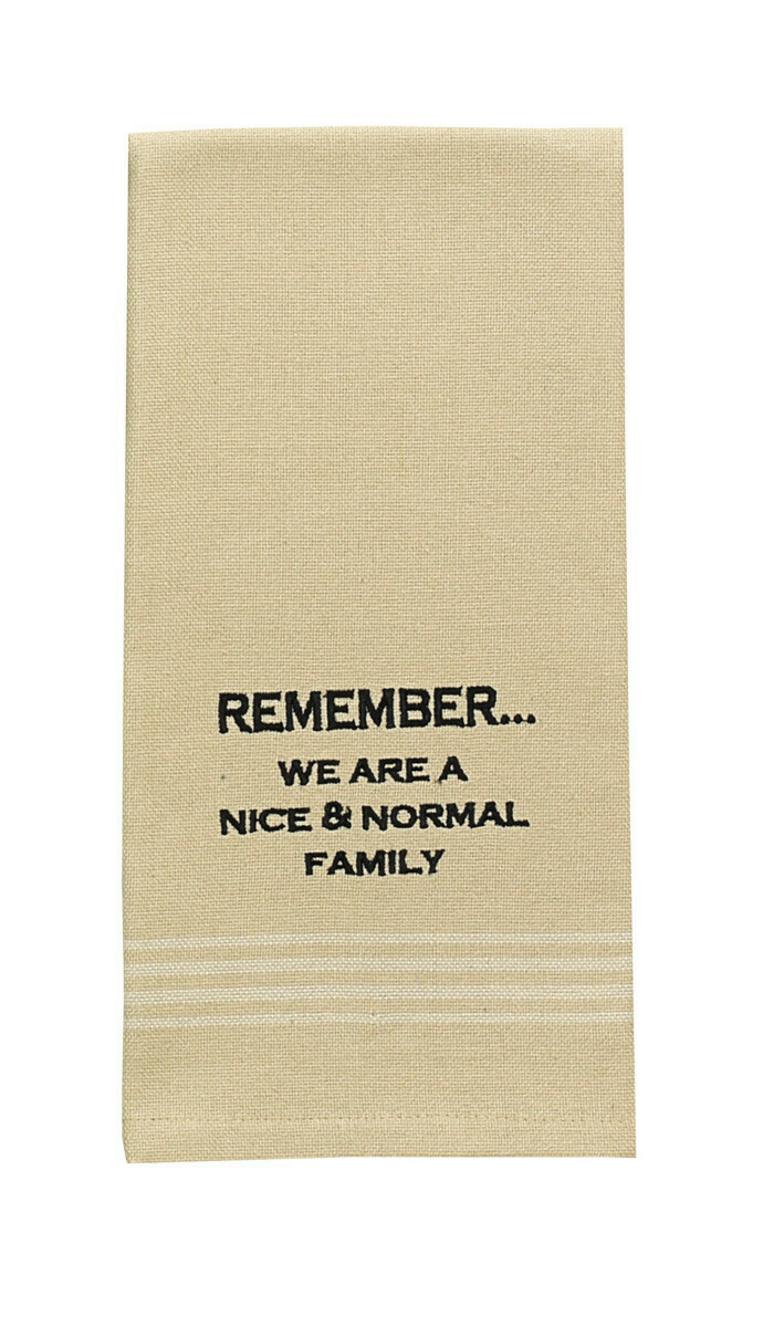 Remember Embroidered Dishtowel