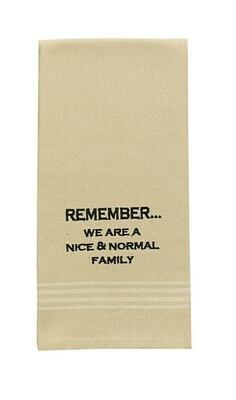 Remember Embroidered Dishtowel