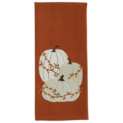 Cream Pumpkins Dishtowel