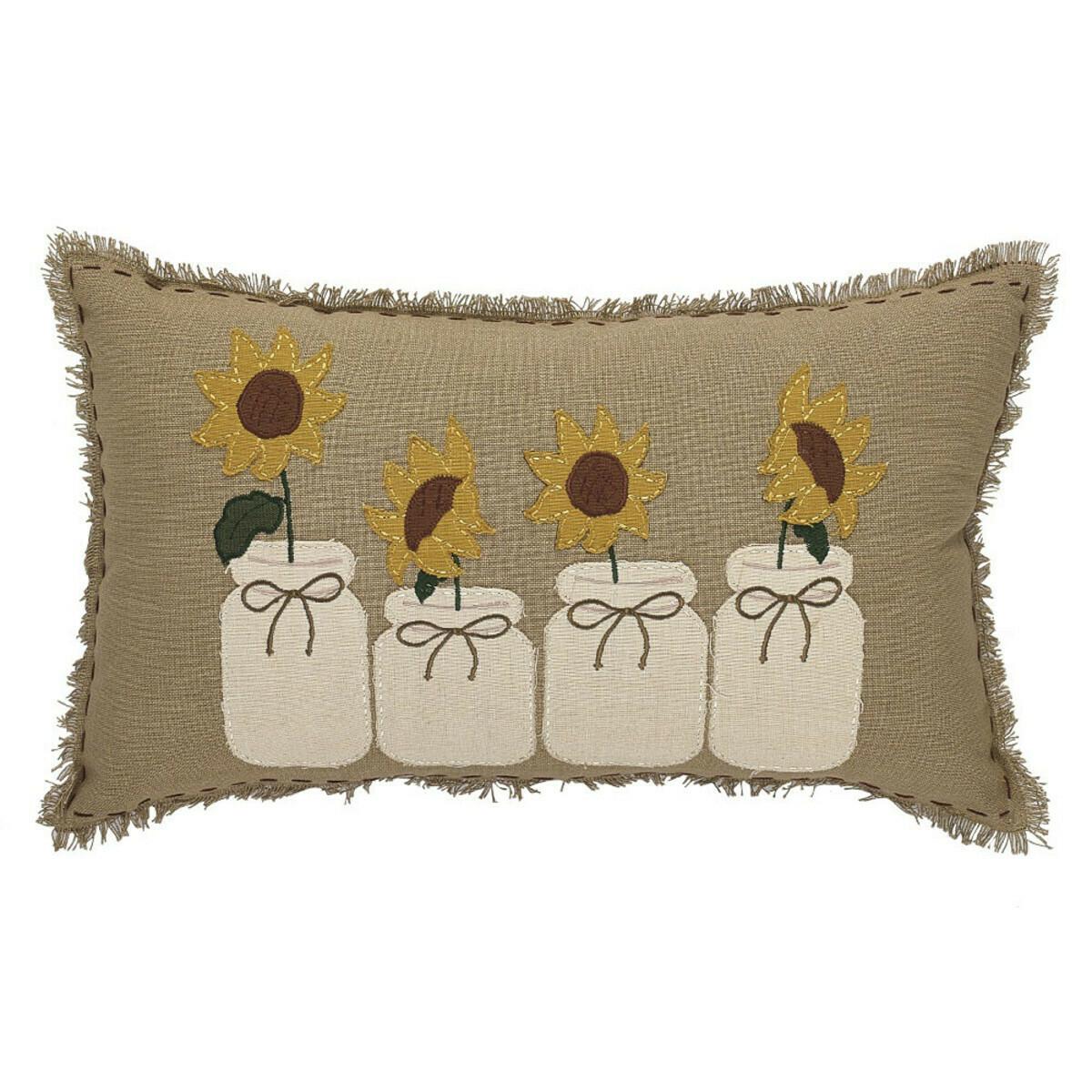 Sunflower Blooms Pillow