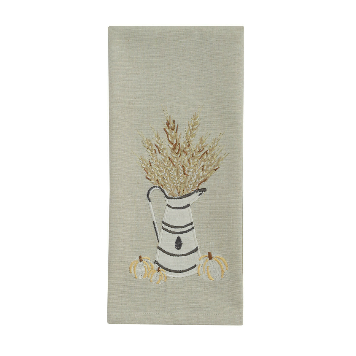 White and Wheat Decorative Dishtowel