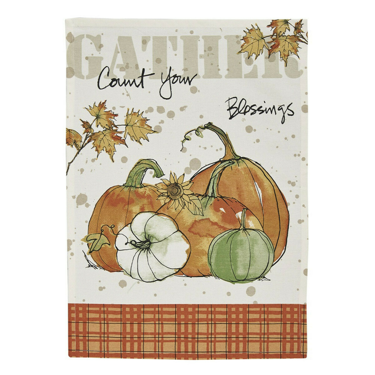 Gather Pumpkins Printed Dishtowel