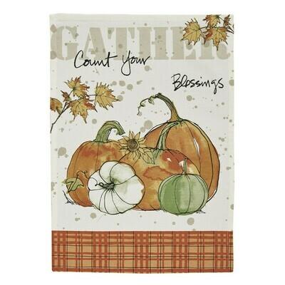 Gather Pumpkins Printed Dishtowel