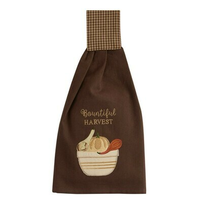 Bountiful Harvest Applique Hand Towel