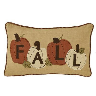 Fall Pumpkin Applique Pillow
