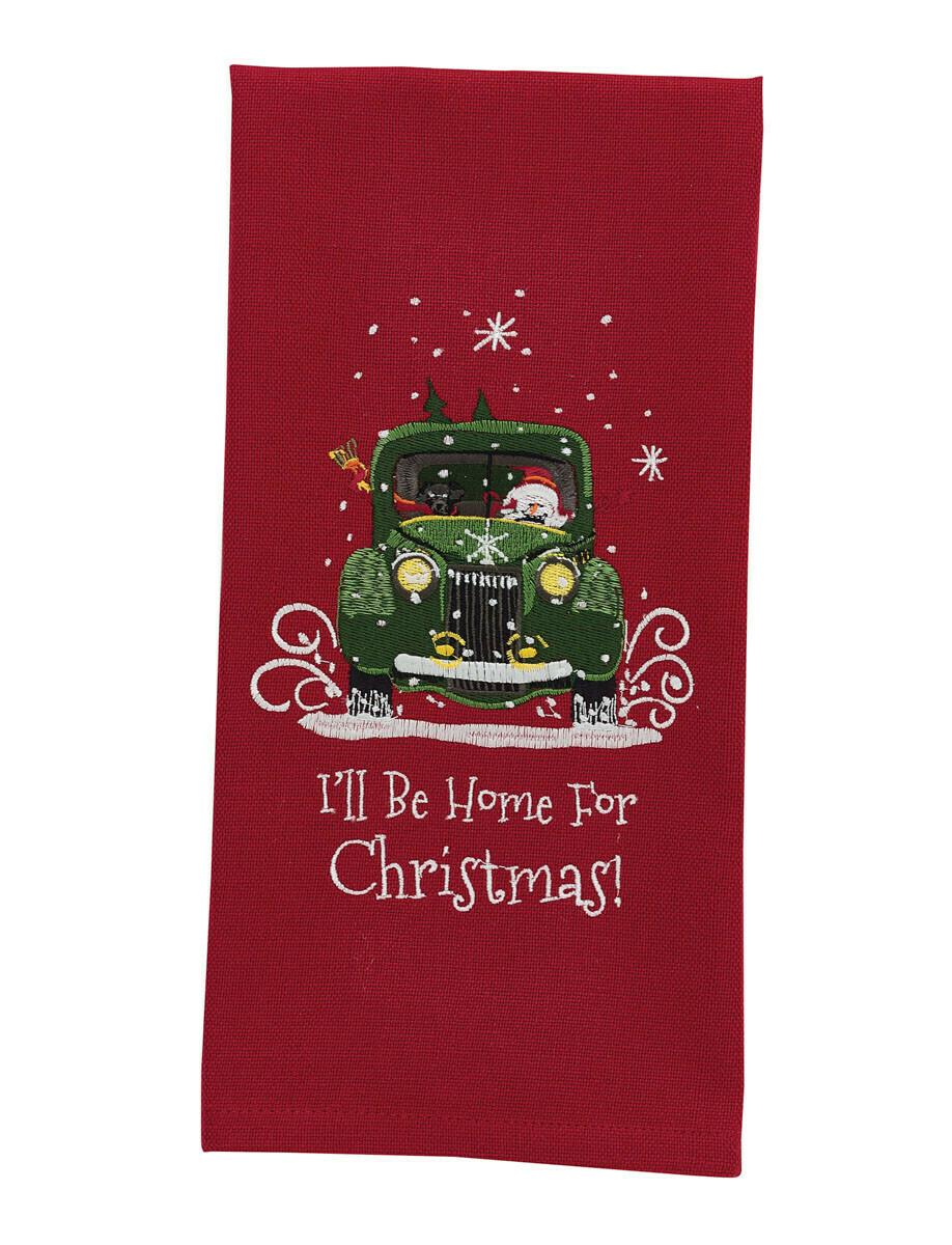 I'll Be Home For Christmas Dishtowel