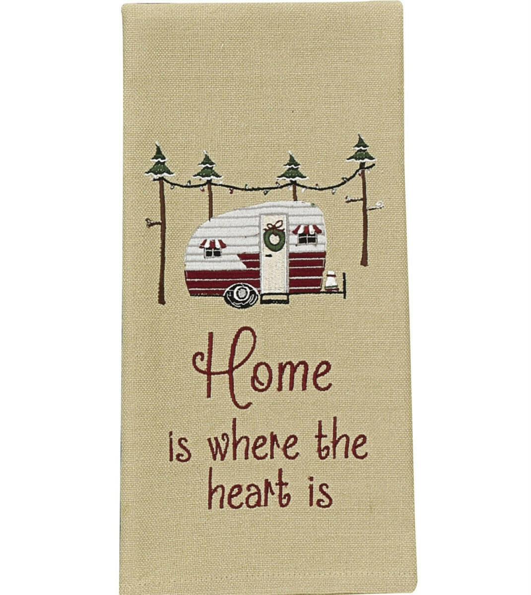 Home Is Where The Heart Is Dishtowel