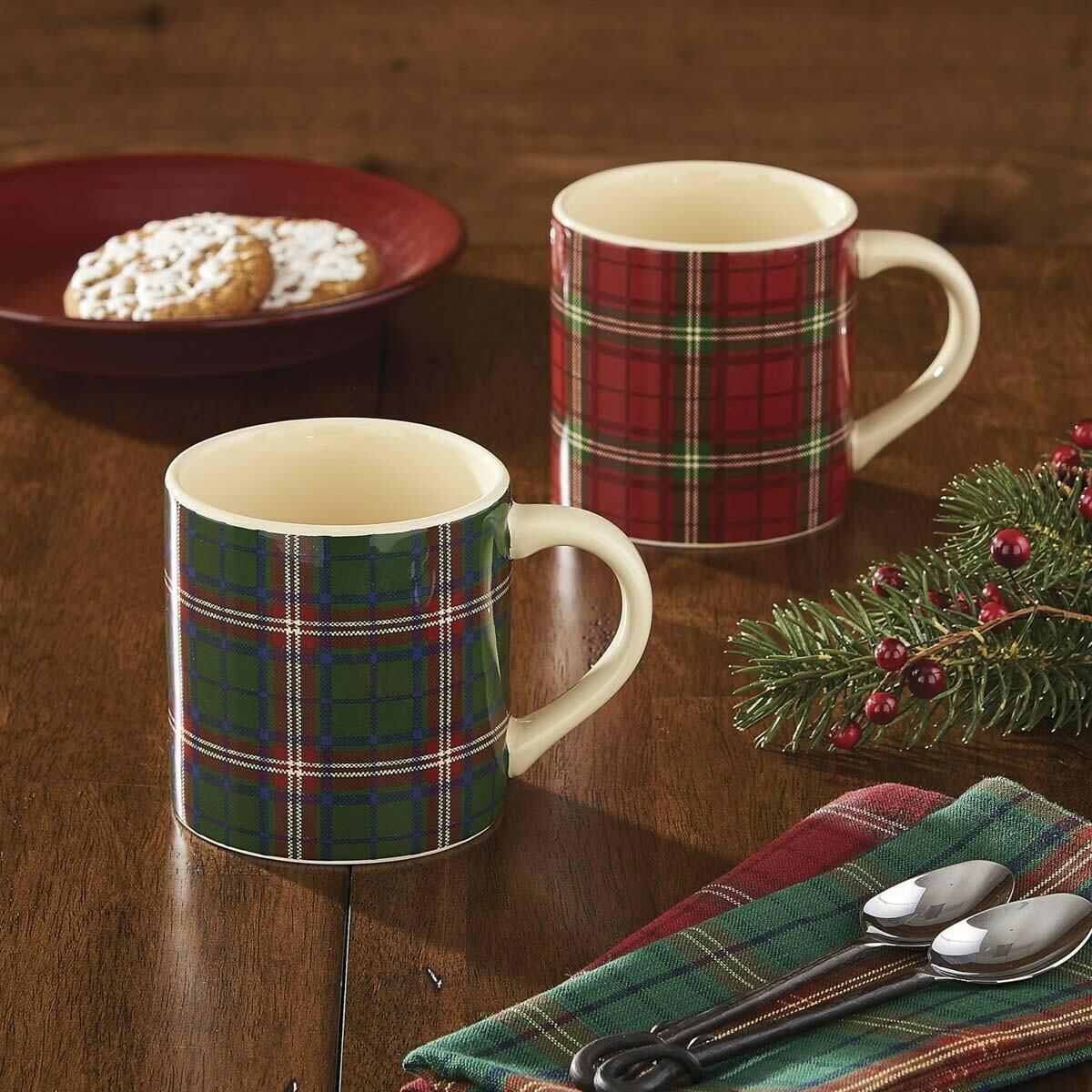 Green Highland Plaid Mug
