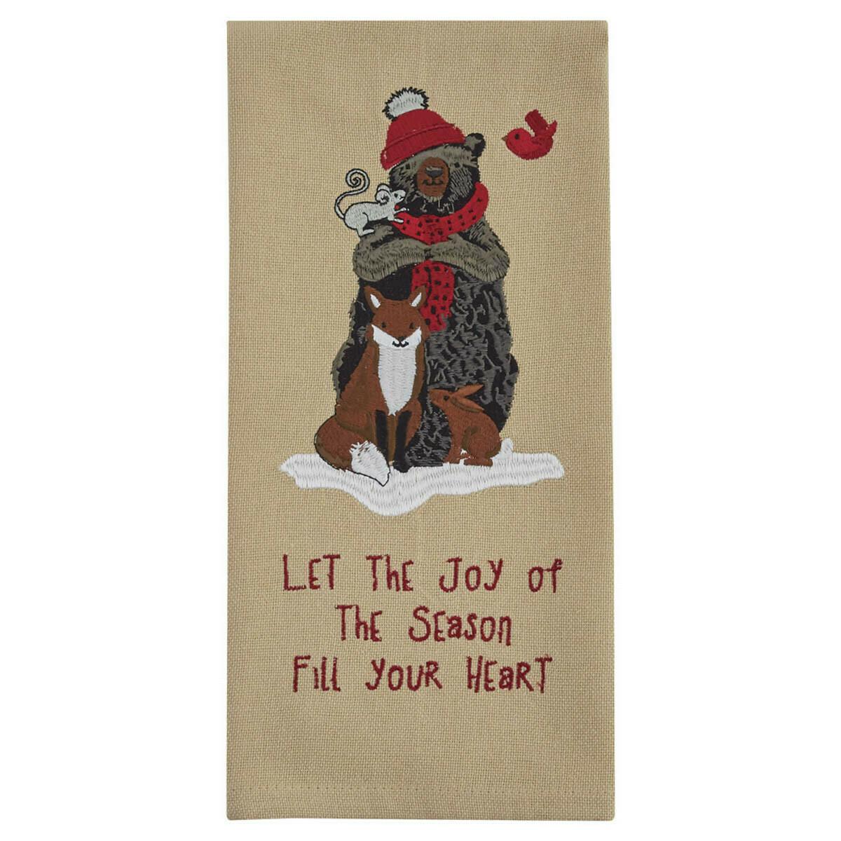 Let the Joy Embroidered Dishtowel