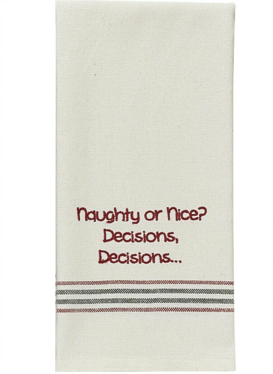 Naughty or Nice Dishtowel