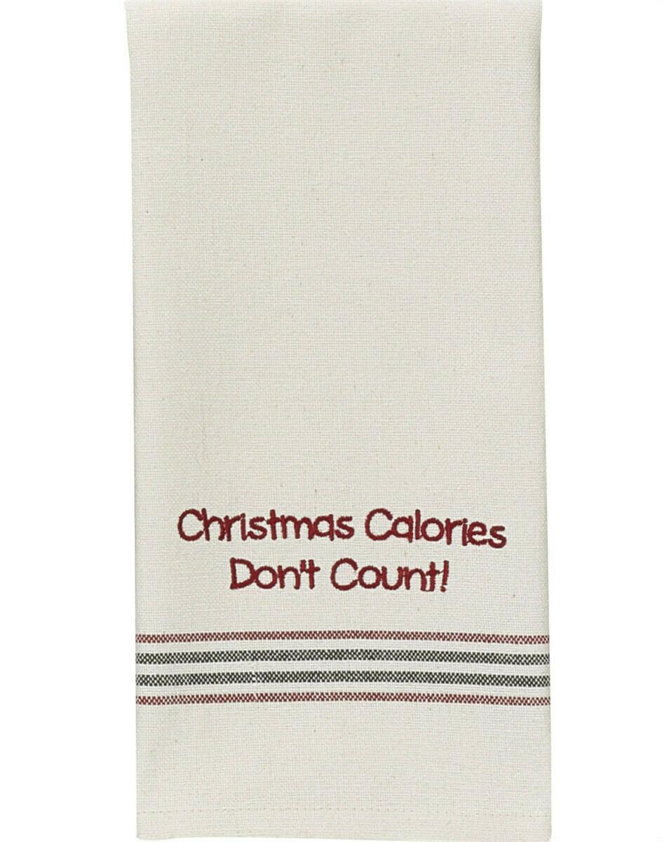 Christmas Calories Don't Count Dishtowel